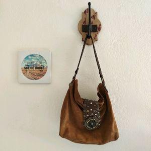 Leatherock 💜 Hobo Boho Slouchy Purse Bag Studded